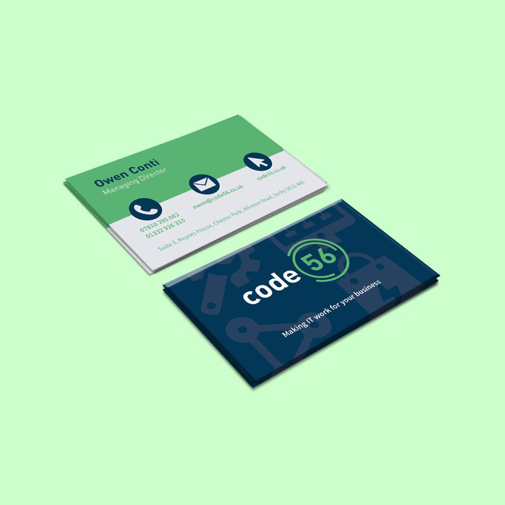 Code 56 business card design