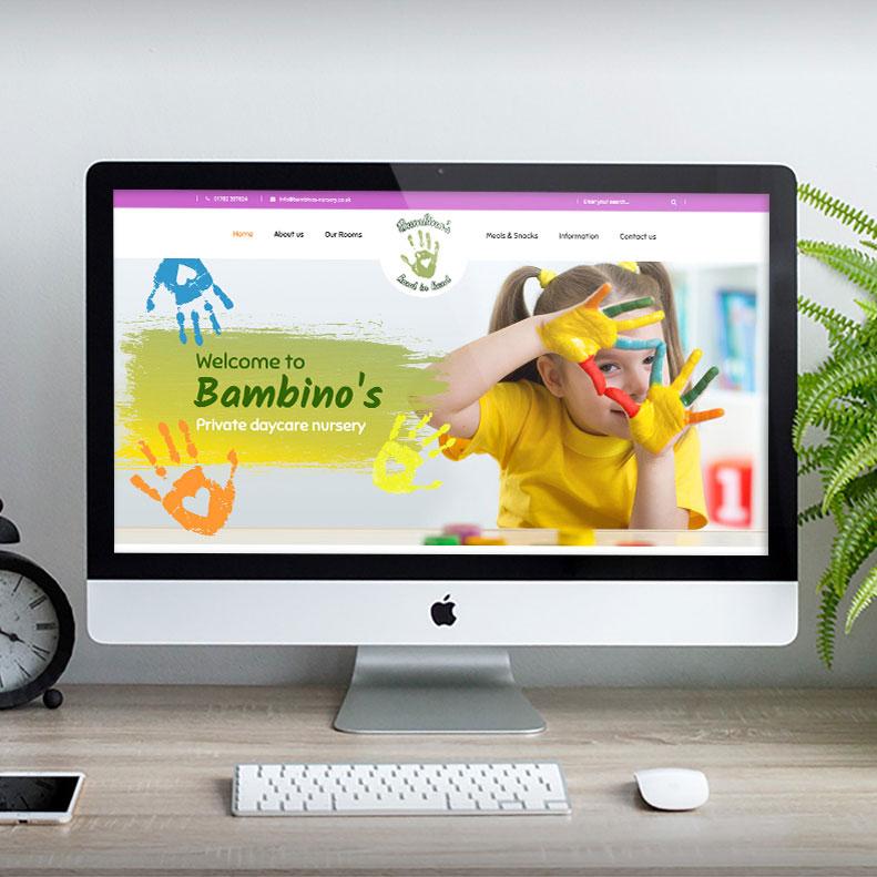 Bambinos Nursery Website design