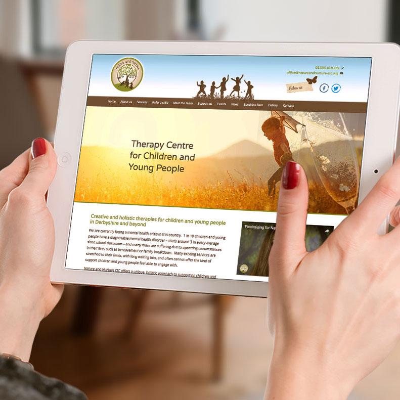 Nature and Nurture CIC website design