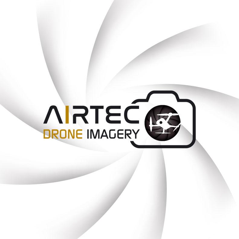 AIRTEC Drone Imagery logo design