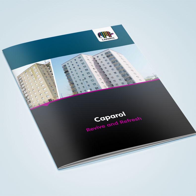 Caparol brochure design cover design