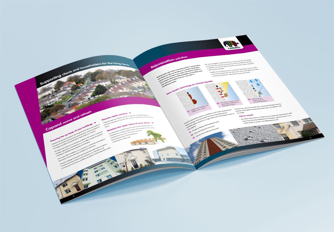 Caparol brochure design