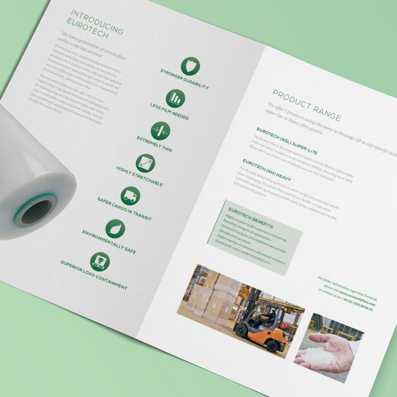 Eurotec brochure design
