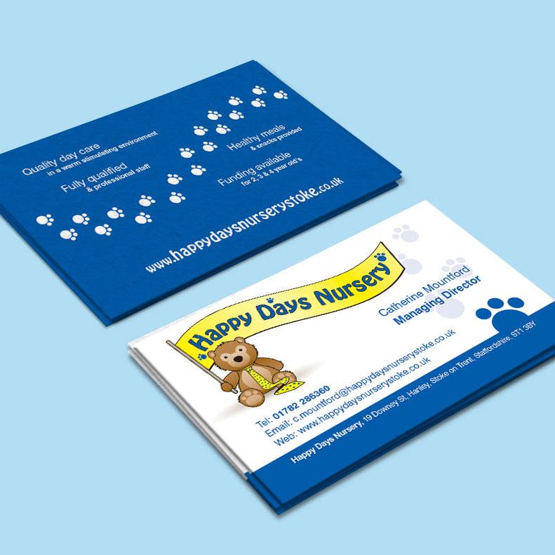 Nursery buiness card design