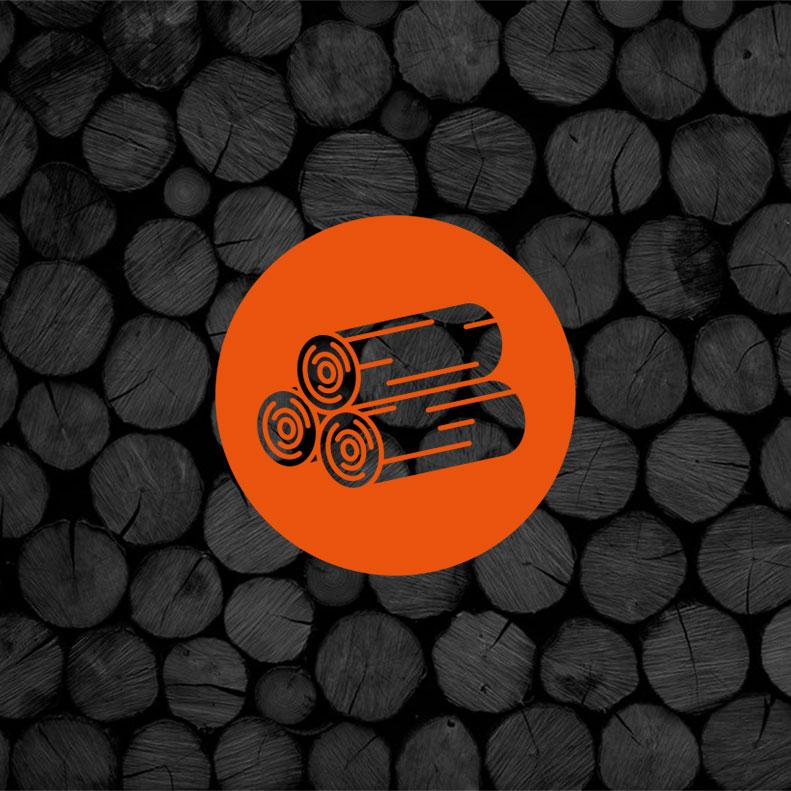 Kiln Dried Logs logo design