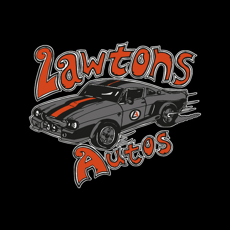 Lawton Autos logo design