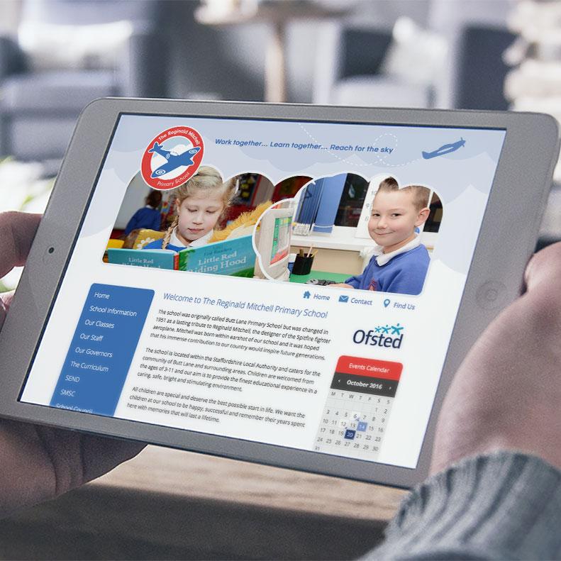 Reginald Mitchell Primary School website design