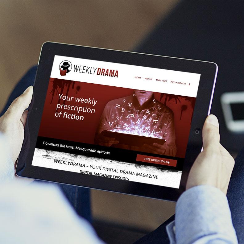 Weekly Drama website design