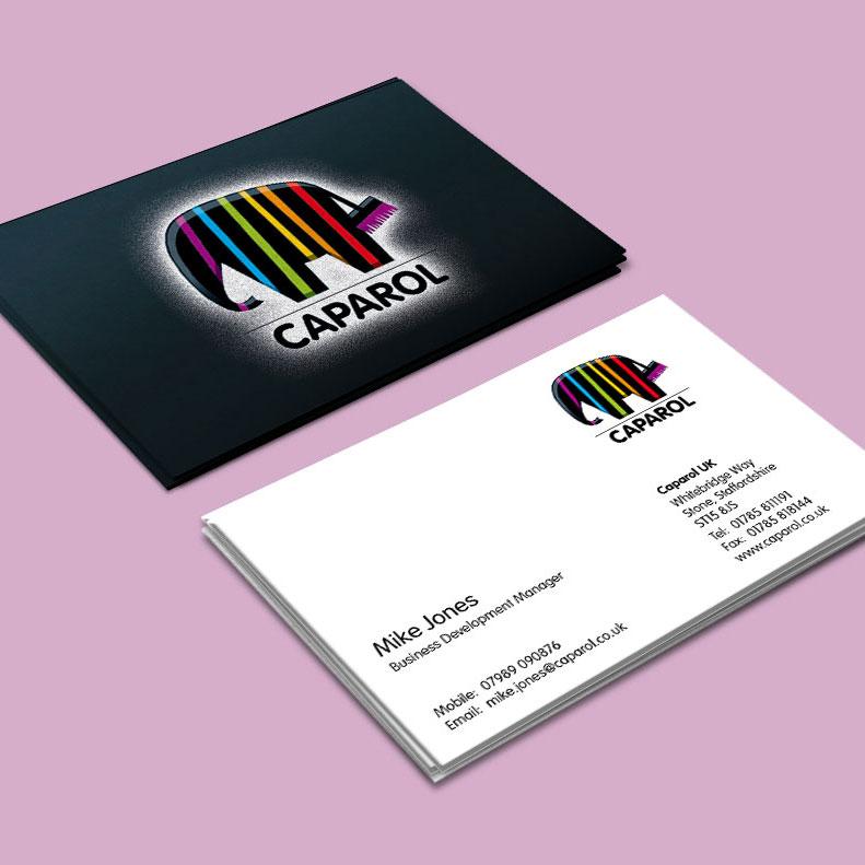 Caparol business card design