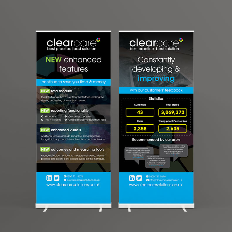 Clearecare Solutions Pull-up Banners