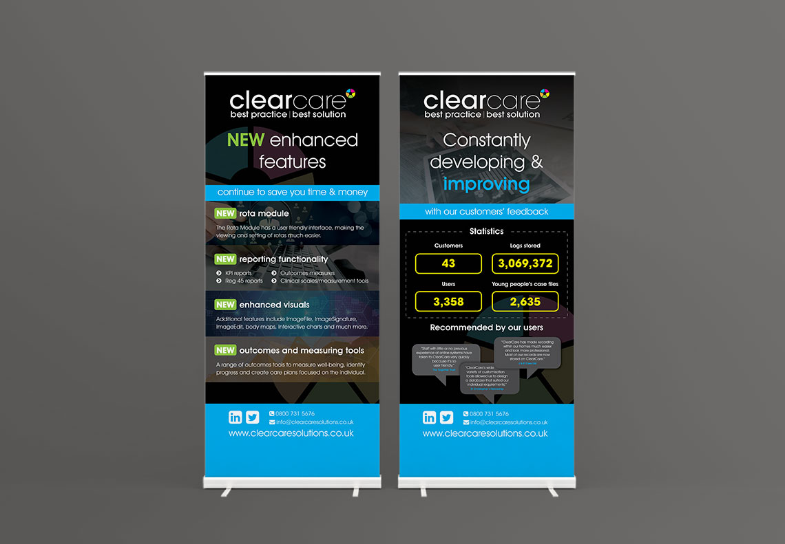 Clearcare banner stand design