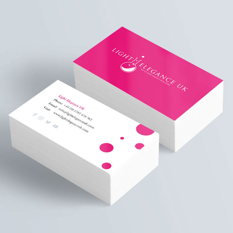 Light Elegance Business Card Design