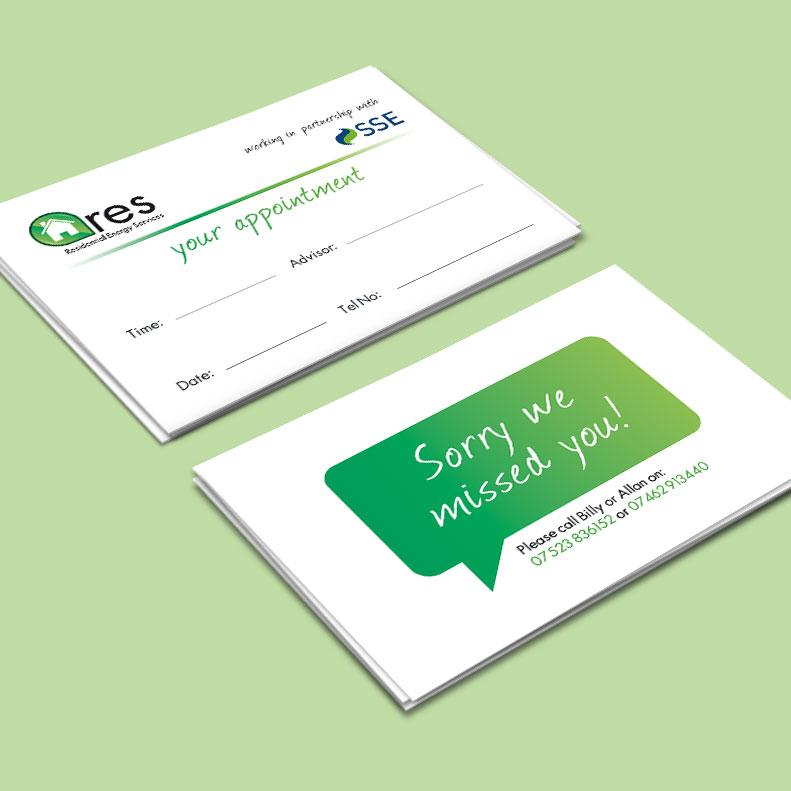 Energy services busines card design
