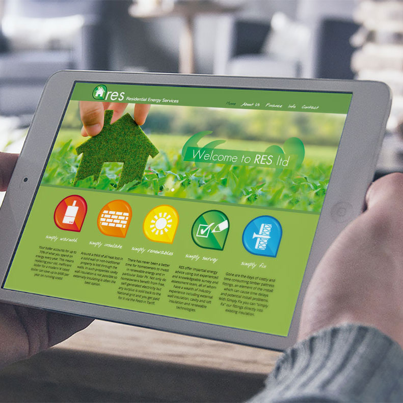 Energy services website design