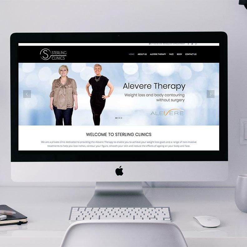 Weight loss clinic website design