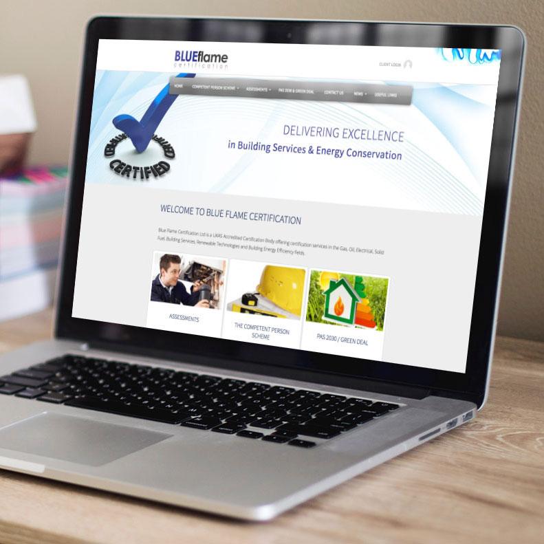 Blue Flame website design