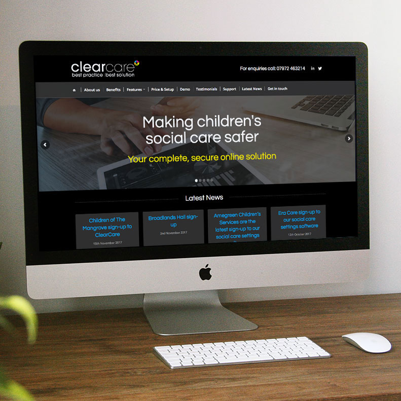 Clearcare Solutions website design