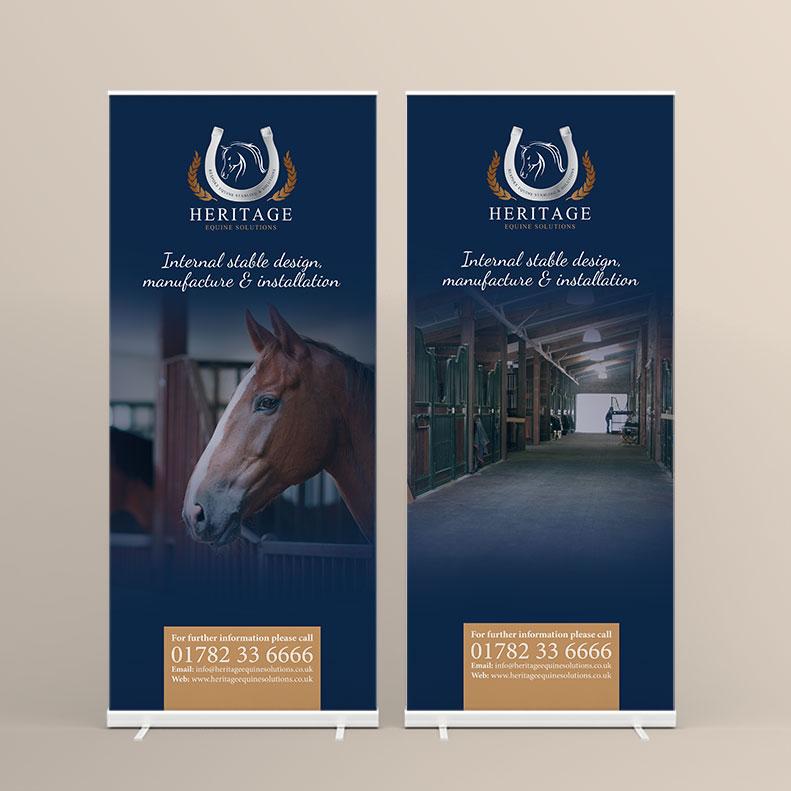 Heritage Equine pull-up banner design