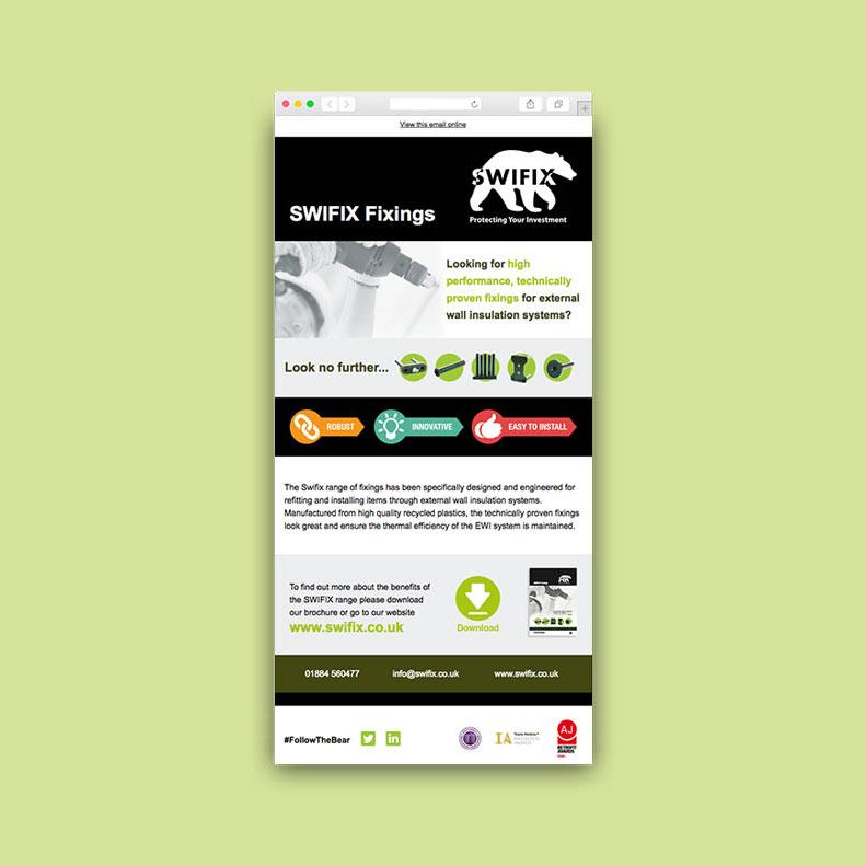 SWIFIX email marketing design