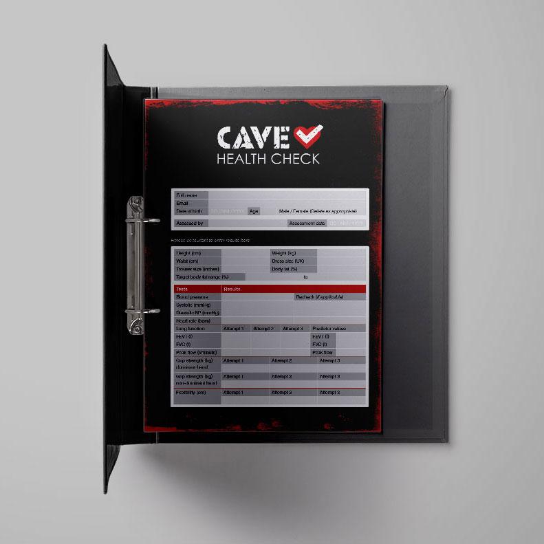 Caveman Training health check cards
