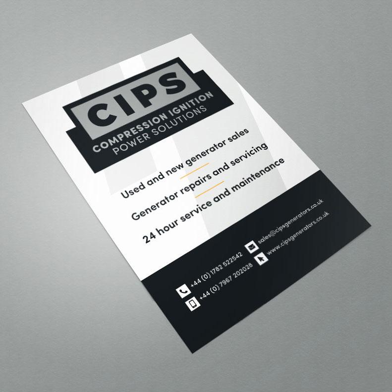 CIPS sticker label design