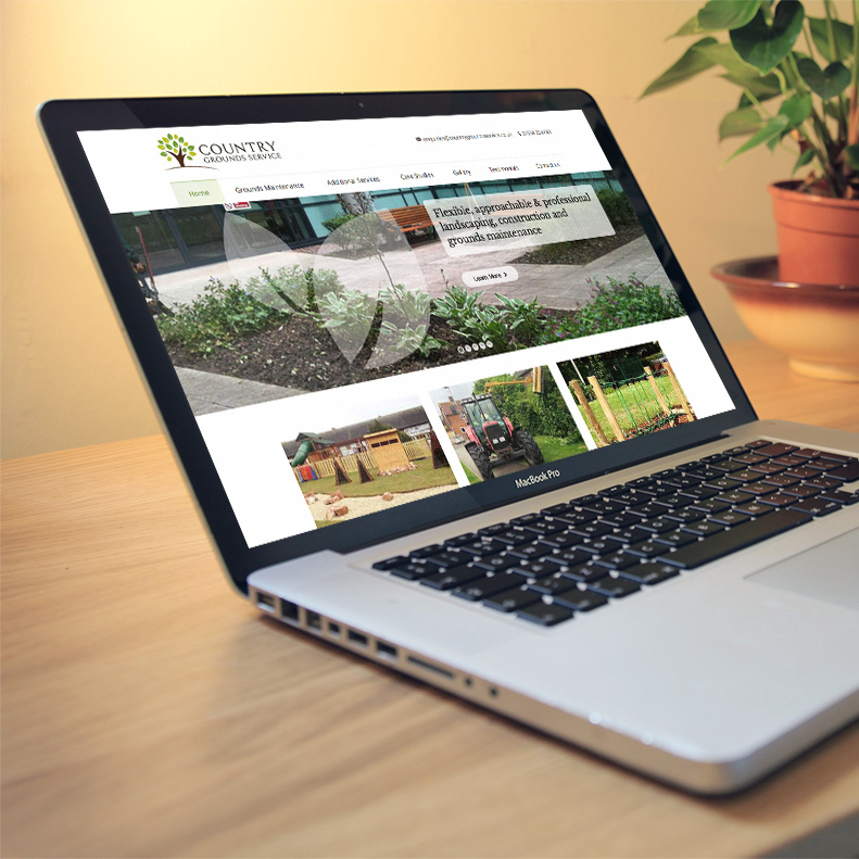 Country Grounds Service website design