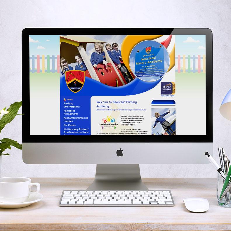 Newstead Primary Academy website design