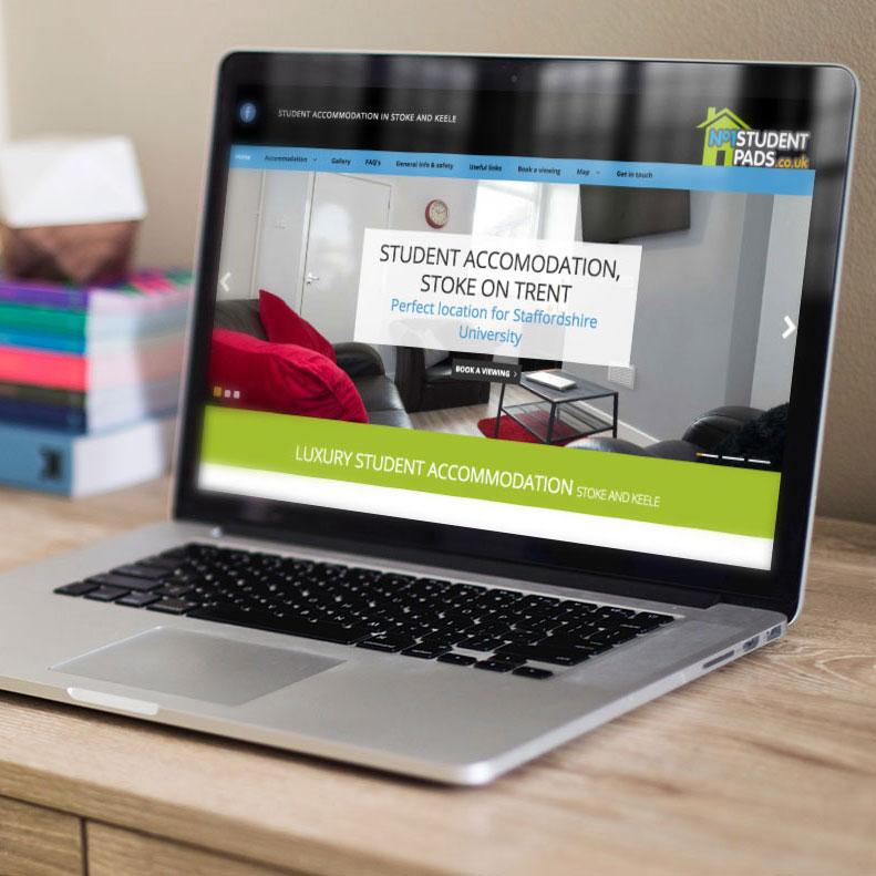 No1 Student Pads website design