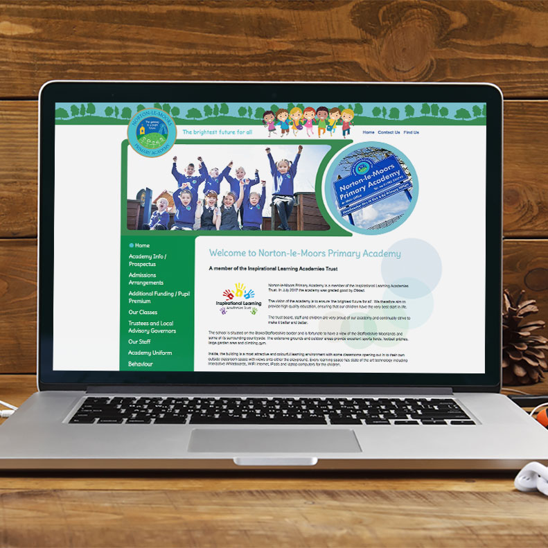 Norton Primary Academy website design