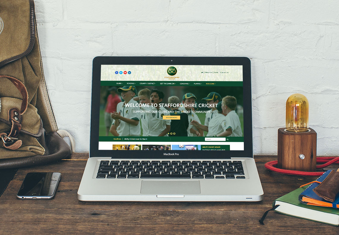 Staffordshire Cricket website design