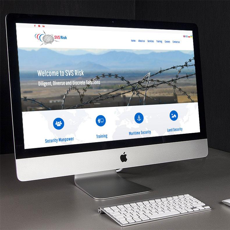 SVS Risk website design