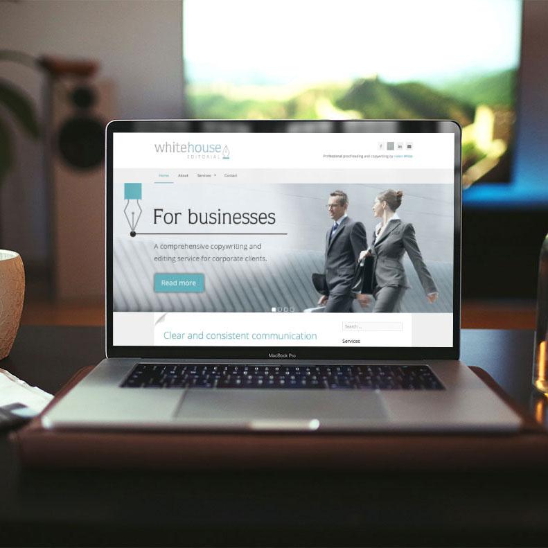 Whitehouse Editorial website design