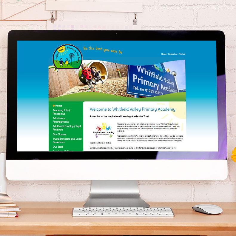 Whitfield Primary website design