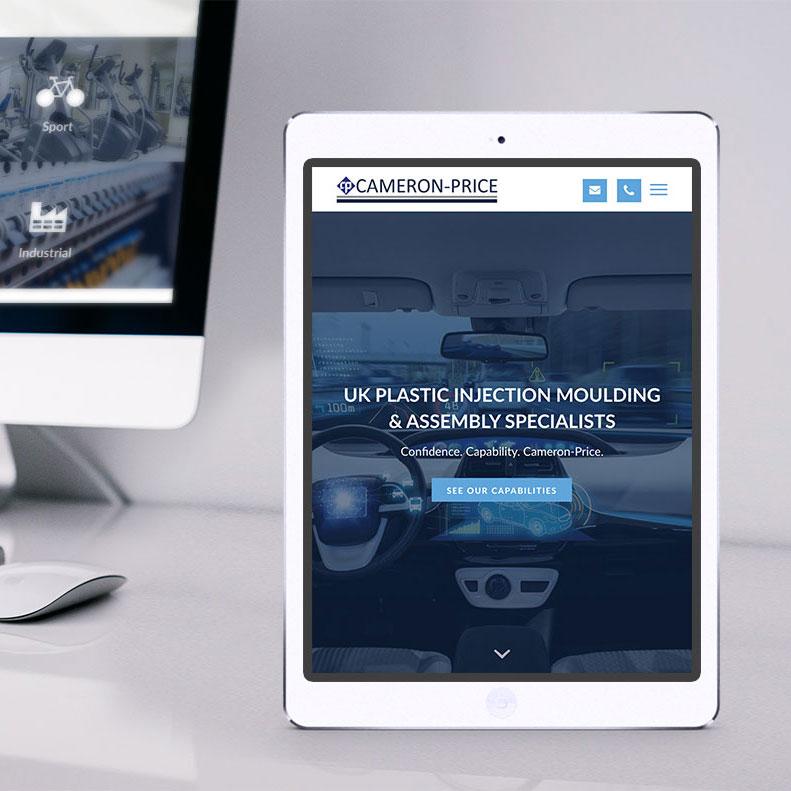 Cameron Price responsive website design
