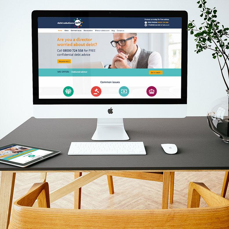 Debt Solutions Hub website design