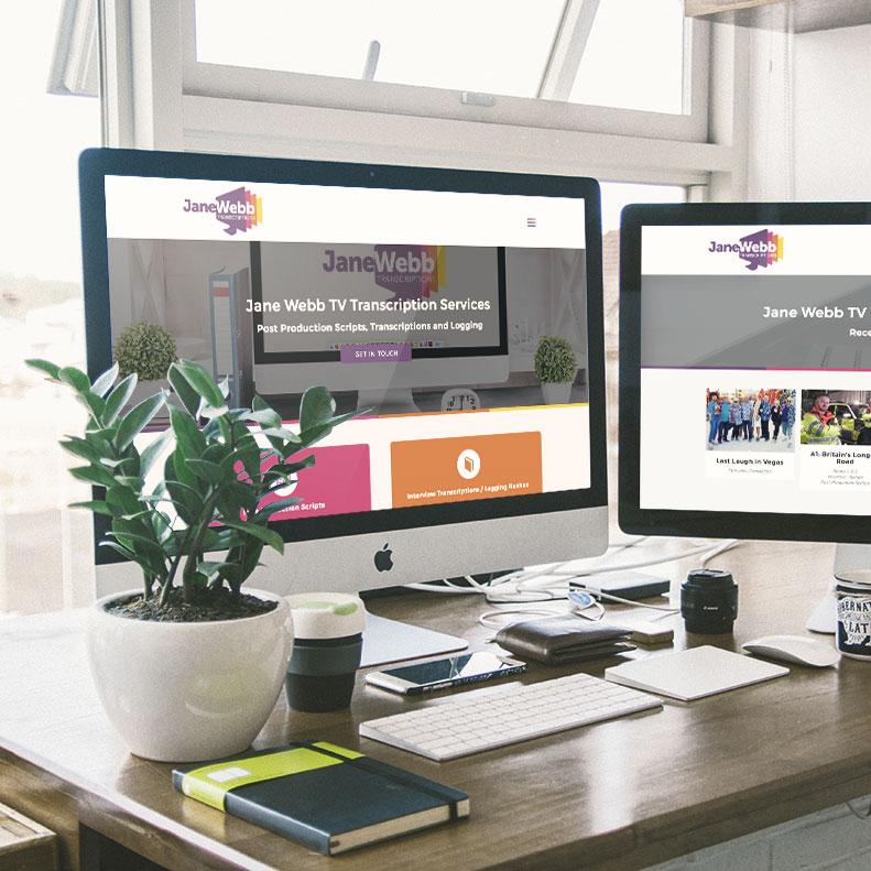 Jane Webb Transcriptions website design