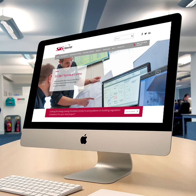 SIG 360 website design