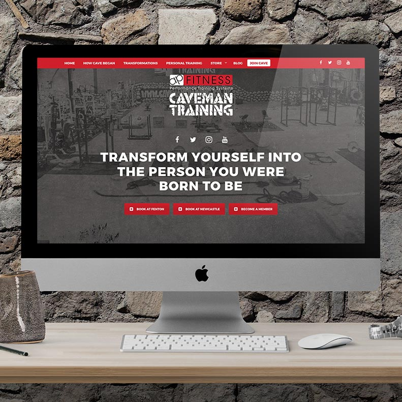 Caveman Training Website Design