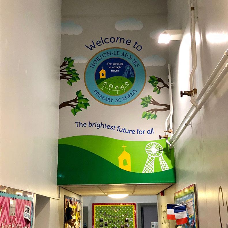 Wall Graphics for Norton Primary School