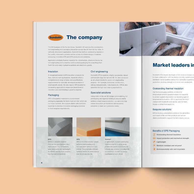 Sundolitt brochure design