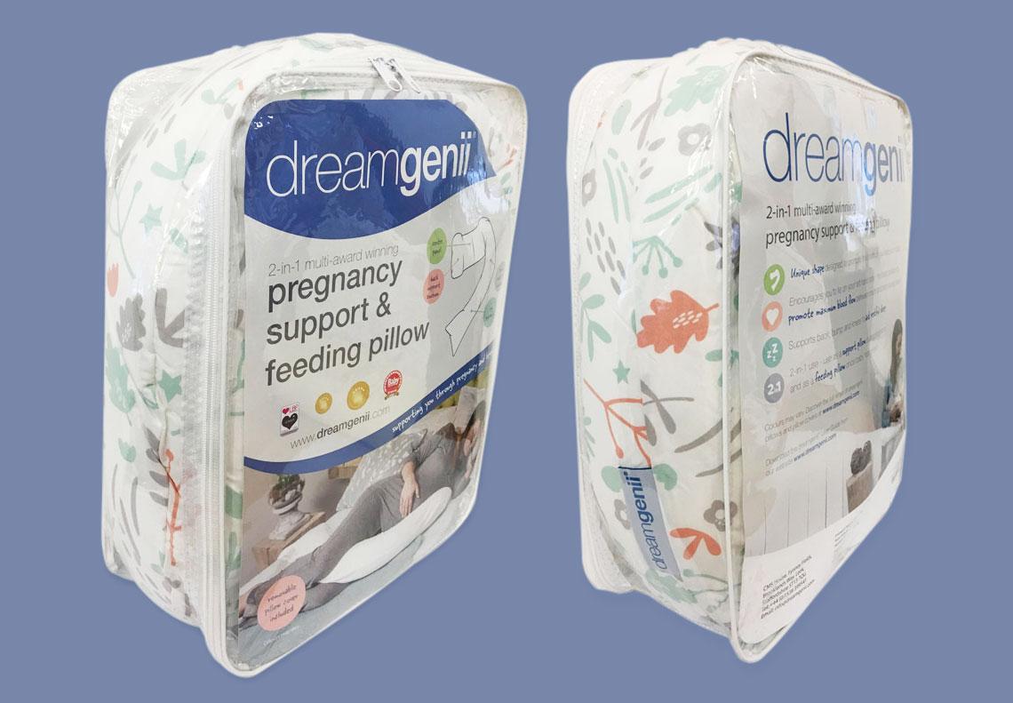 Dreamgenii pregnancy pillow packaging