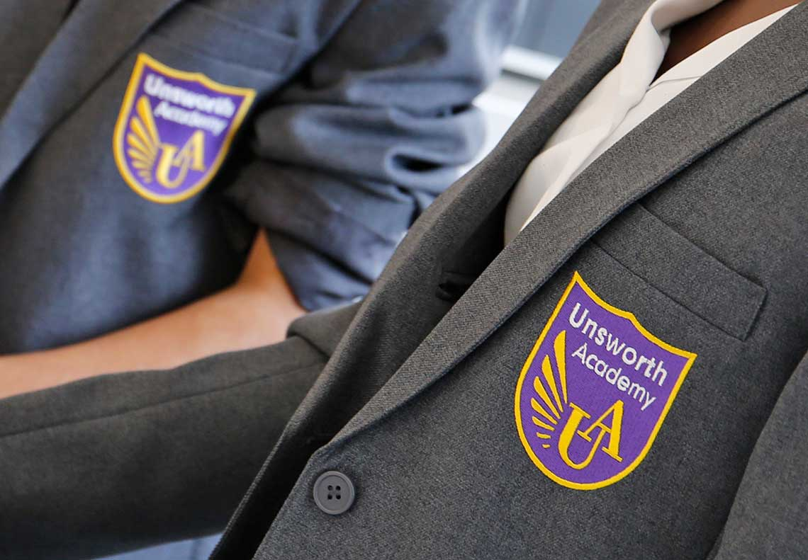 Unsworth Academy Logo Design Limelight