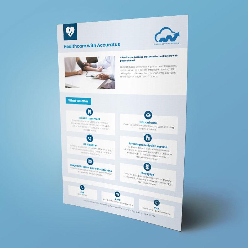 Accuratus Accounting A4 folder insert design