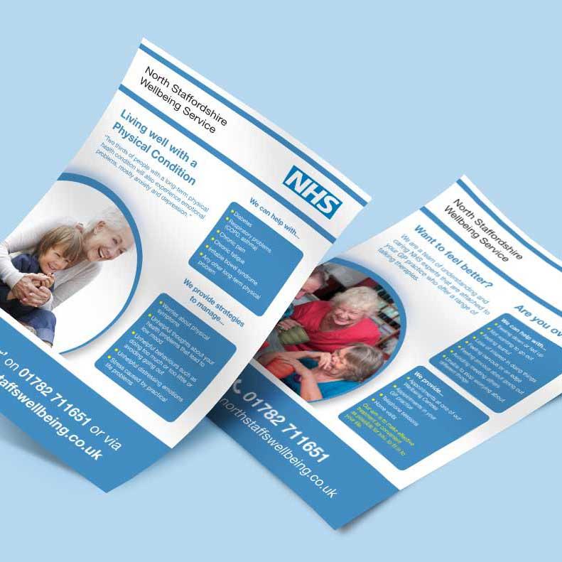 North Staffordshire Wellbeing Service poster design