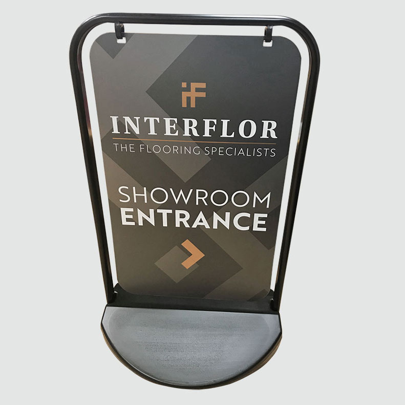 Interflor Interiors a-board graphics
