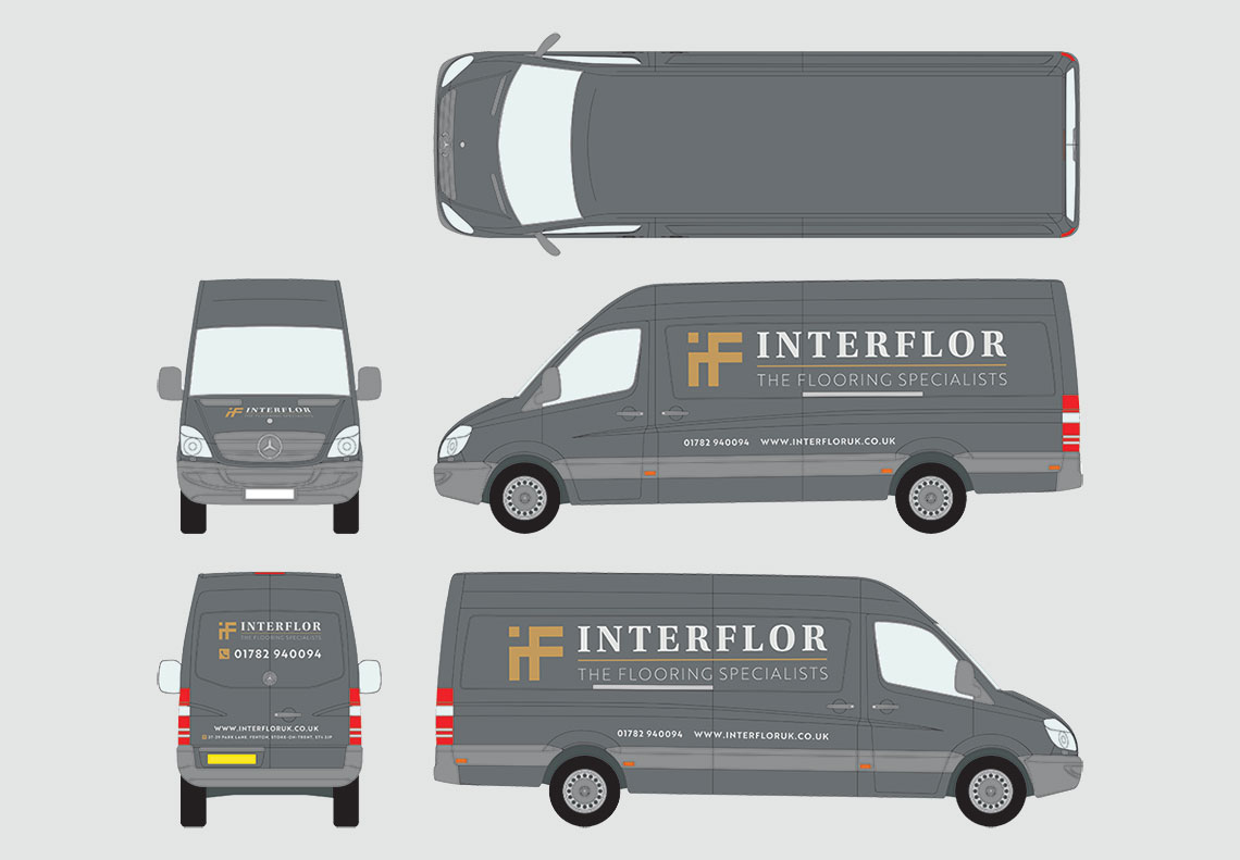 Interflor Interiors van livery design