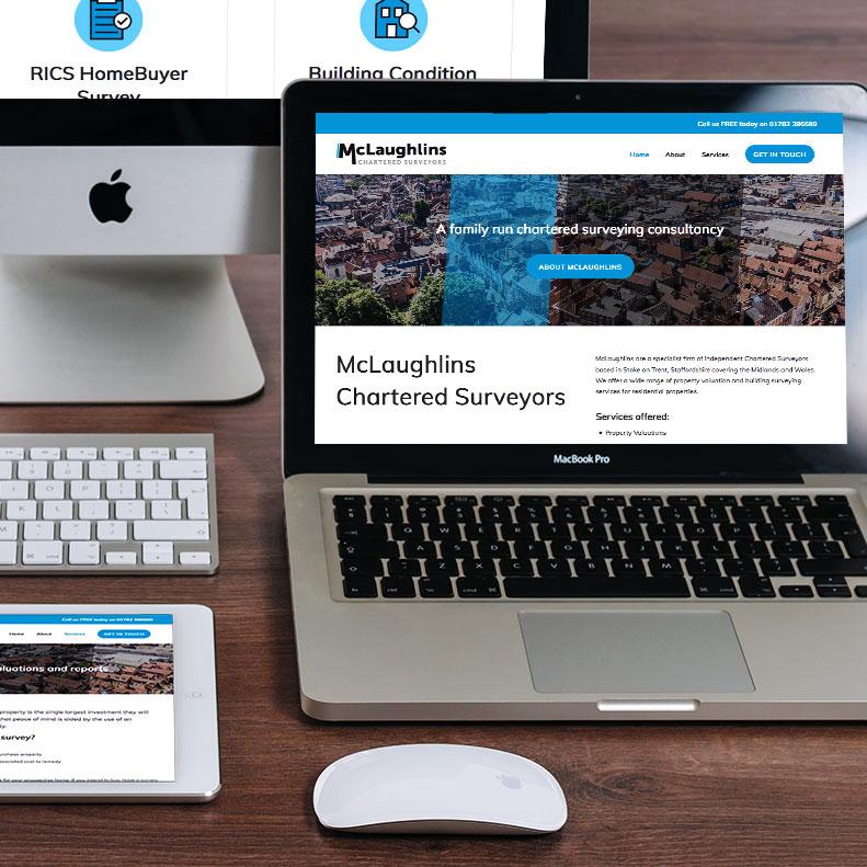 McLaughlins Chartered Surveyors website design