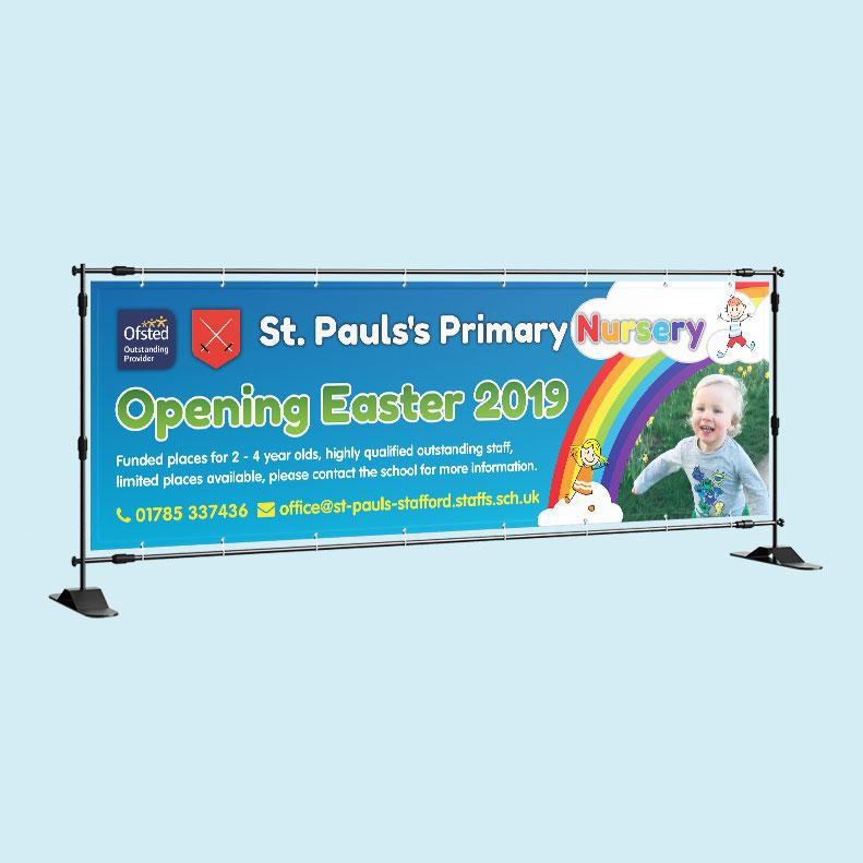 St Pauls Primary Nursery banner design
