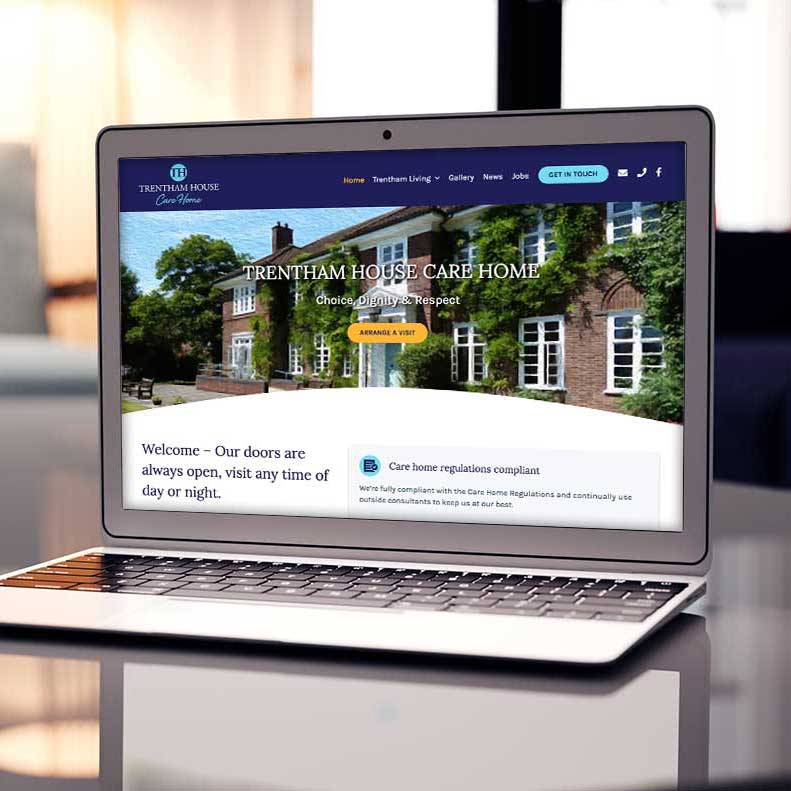 Trentham House Care Home website design