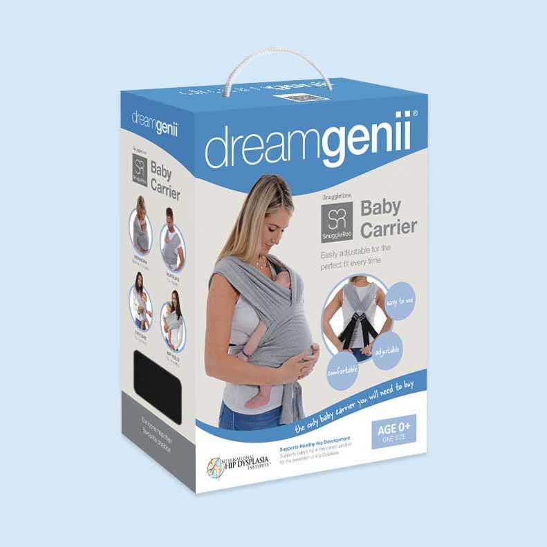 Dreamgenii baby carrier packaging design